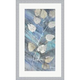 Albena Hristova 'Silver Leaves II' Framed Wall Art