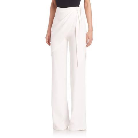 Cinq a Sept Women's Casa Blanca White Wide-leg Pants
