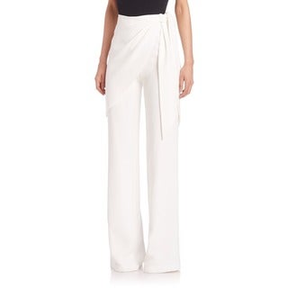 Cinq a Sept Women's Casa Blanca White Wide-leg Pants