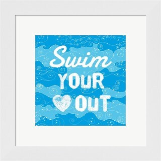 Sports Mania 'Swim Your HeWall Art Out - Grunge' Framed Wall Art