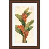 Albena Hristova 'Ginger Blossom on White' Framed Art