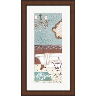 Rebecca Lyon 'Fancy Bath Panel II' Framed Wall Art