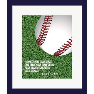 Sports Mania 'Baseball Quote' Framed Wall Art