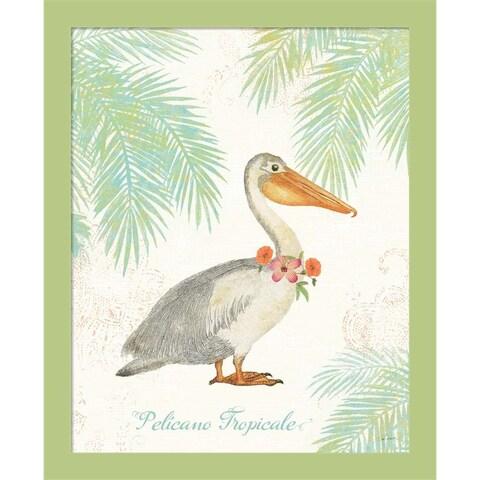 Sue Schlabach 'Flamingo Tropicale I' Framed Wall Art