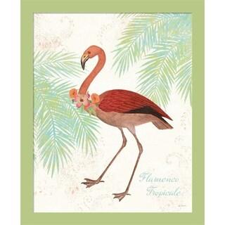 Sue Schlabach 'Flamingo Tropicale II' Framed Wall Art