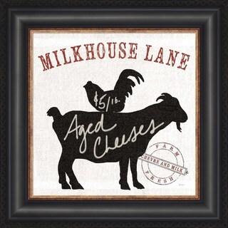 Sue Schlabach 'Farm Linen Goat Black' Framed Wall Art
