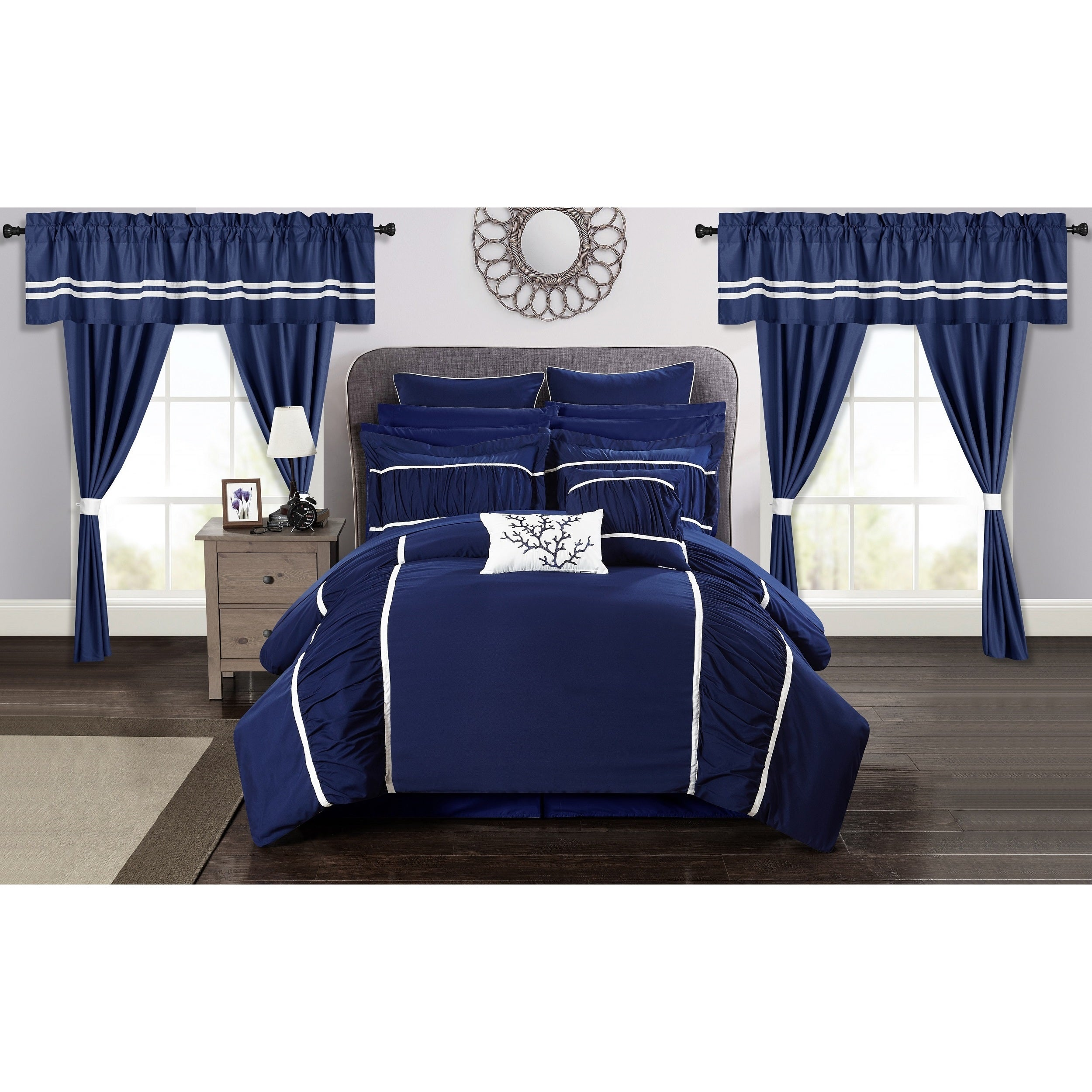 Chic Home 24 Piece Auburn King Bed In A Bag Comforter Set