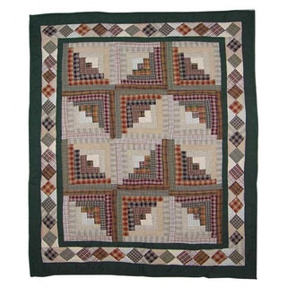 Patch Magic Hand Quilted Cotton Patchwork Baby Quilt Peasant Log Cabin
