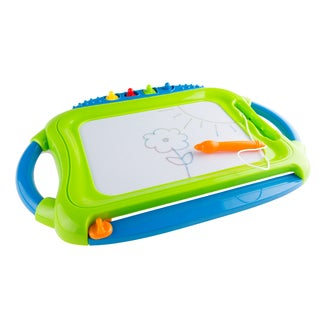 Hey! Play! Multi-color Magnetic Drawing Board with Pen, Eraser & 4 Stamps