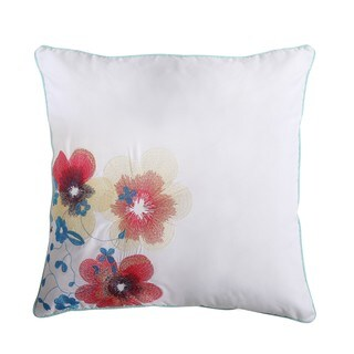 VCNY Home Flower 18x18 Decorative Throw Pillow