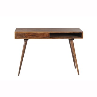 Mandara Handcrafted Solid Wood Mid Century Modern Desk