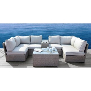 Chelsea Grey Wicker 8-piece Sectional Set by Living Source International