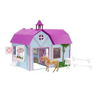 Breyer Stablemates Plastic Horse Crazy Stable