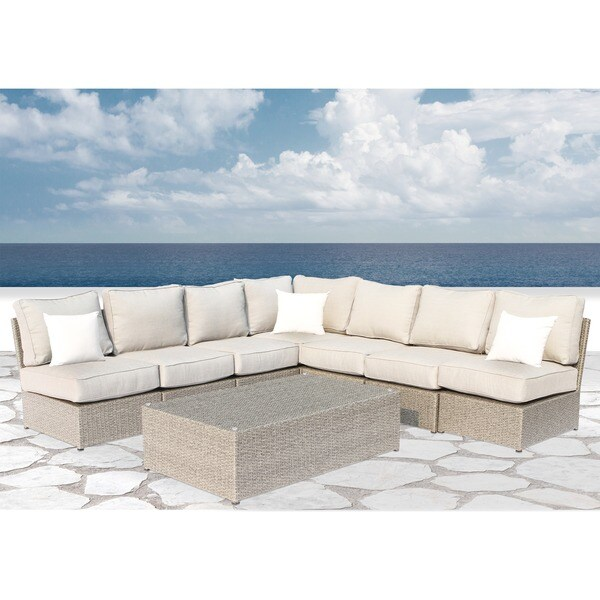 Chelsea Grey Wicker 8-piece Patio Sectional Set by Living Source International