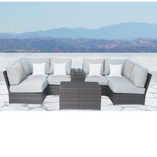 Lucca Cup Holder Table 8-piece Sectional Set by Living Source International