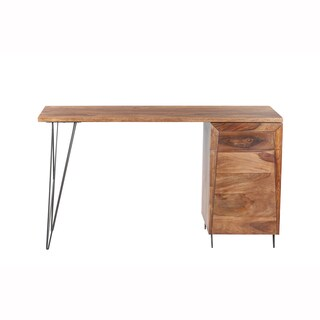 Mandara Handcrafted Solid Wood Modern Desk