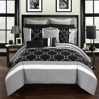 Chic Home 16-Piece Casper King Bed In a Bag Comforter Set, Grey