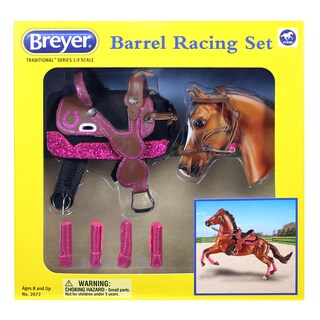 Breyer Traditional Series Barrel Racing Plastic Tack Set