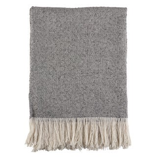 Herringbone Tasseled Throw