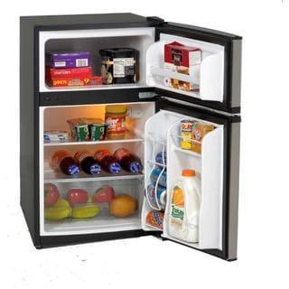 Avanti RA3136SST 3.1 Cubic Foot Two Door Cycle Defrost Refrigerator Black with Stainless Steel Door