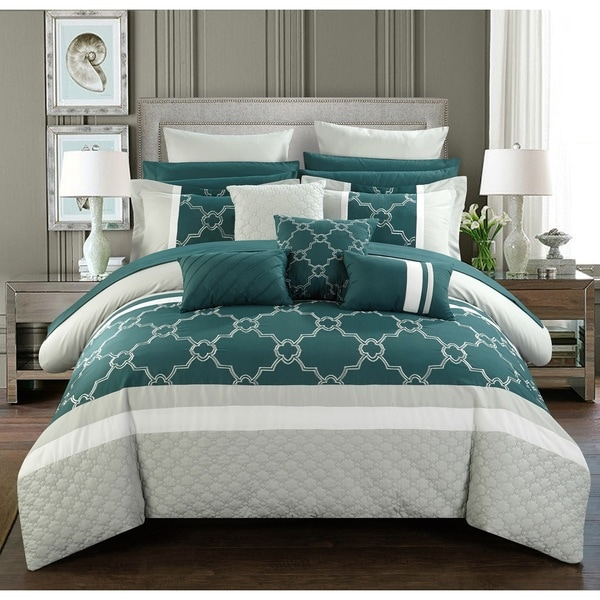 Chic Home 16 Piece Casper King Bed In A Bag Comforter Set