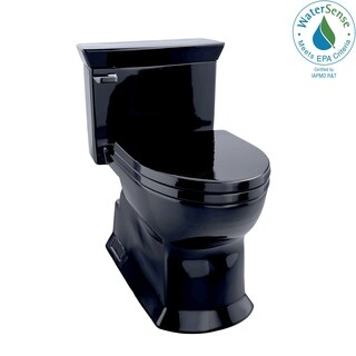 Toto Eco Soirée One-Piece Elongated 1.28 GPF Universal Height Skirted Toilet MS964214CEF#51 Ebony