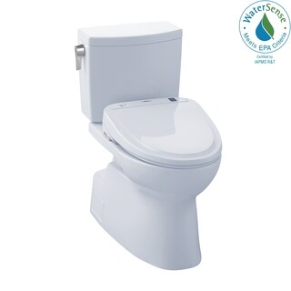 Toto Carlyle Ii White Vitreous China Elongated Toilet