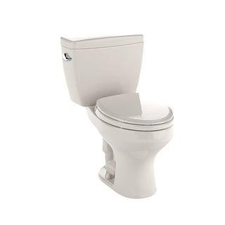 Toto Rowan Sedona Beige Vitreous China Elongated 2-piece Toilet