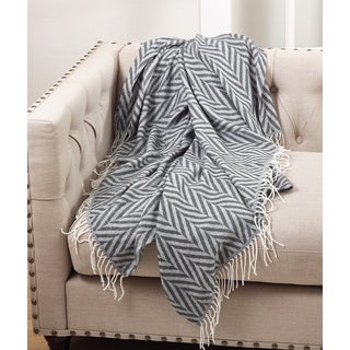 Herringbone With Tassel Hem Lightweight Throw