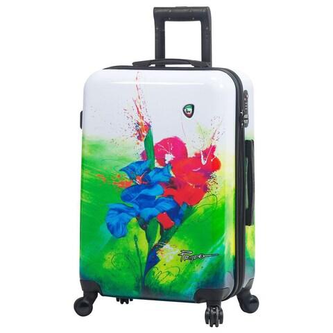 Mia Toro ITALY Prado-Exotic Life 24-inch Hardside Spinner Upright Suitcase