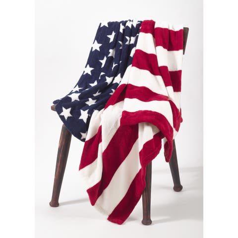 Red White & Blue American Flag Throw