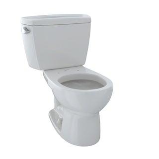 Toto Drake Round 2-piece White Vitreous China Toilet