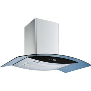 Winflo O-W102B30G 30-inch Stainless Steel/ Tempered Glass Convertible Wall Mount Range Hood