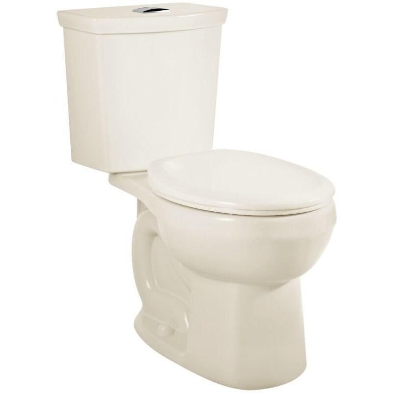 American Standard H2Option Linen Round Toilet (Linen), Gr...