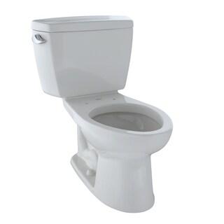 Toto Drake Elongated 2-piece White Vitreous China Toilet
