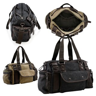 Gearonic Vintage Canvas and Leather Duffel Bag