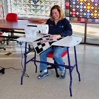 Sullivans Sew and Go Adjustable Foldable Sewing Machine Table