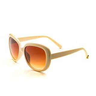 Pop Fashionwear Women's P2415 Oversize Polarized Oval Sunglasses (Option: Yellow - Brown)
