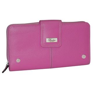 Buxton Westcott Leather Organizer Clutch Wallet