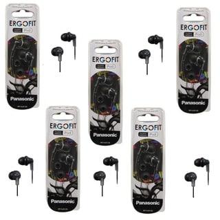 Panasonic ErgoFit In-ear Earbud Headphones (Pack of 5)
