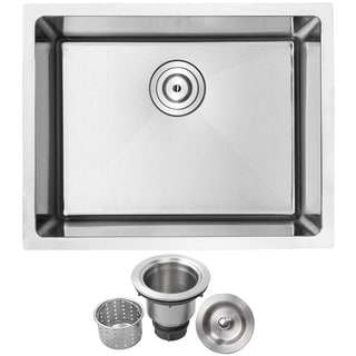"Link to 23"" Ticor PLZ-10 Arlo Series 18-Gauge Stainless Steel Undermount Single Basin Kitchen Sink - Satin Brushed Similar Items in Heaters, Fans & AC"