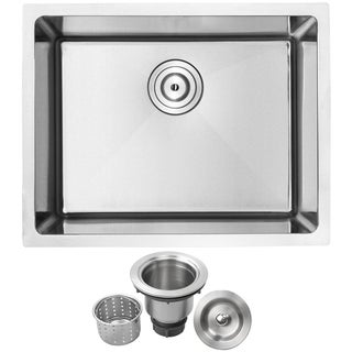 Phoenix PLZ-10 Stainless Steel Single Bowl Undermount Square Kitchen Bar Sink