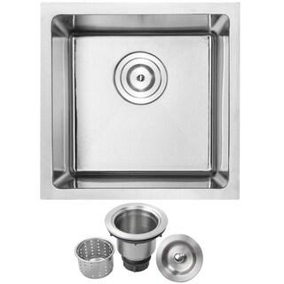 Phoenix 16-inch Stainless Steel Single Bowl Undermount Kitchen Sink