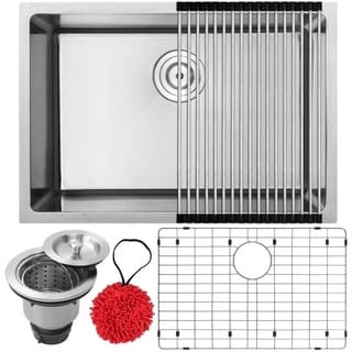 Phoenix PLZ-23-KIT Stainless Steel Single Bowl Undermount Square Kitchen Sink