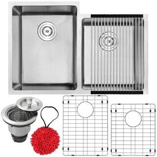 Phoenix 30 1/2-inch Stainless Steel Undermount Double Bowl Kitchen Sink