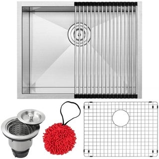 Ticor 22 1/2-inch Stainless Steel Undermount Single Bowl Kitchen Sink