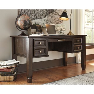 Signature Design by Ashley Townser Grey Home Office Desk