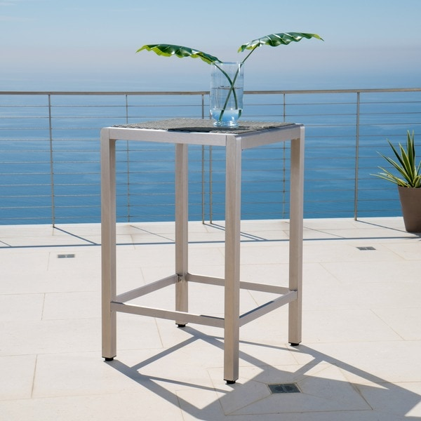 Shop Cape Coral Outdoor Aluminum Wicker Bar Table Table