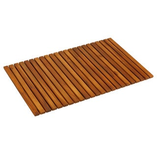 Bare Decor Nori Solid Teak Wood and Oiled Mat