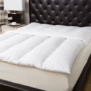 Natural 100-percent Cotton Baffle-channel Featherbed and Cover Set